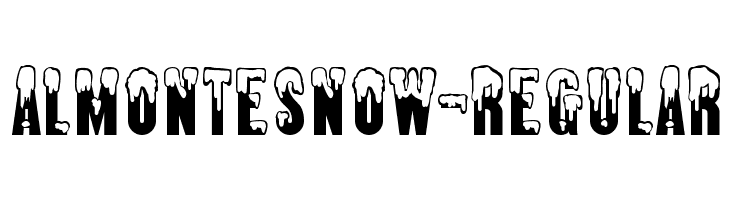 AlmonteSnow-Regular Font