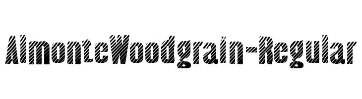 AlmonteWoodgrain-Regular  Descarca Fonturi Gratis