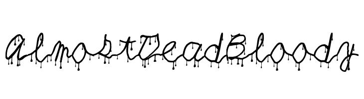 AlmostDeadBloody  नि: शुल्क फ़ॉन्ट्स डाउनलोड