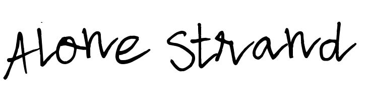 Alone Strand  Скачать бесплатные шрифты