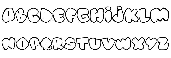 Alpha street Font UPPERCASE