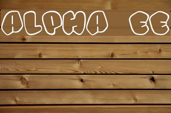 Alpha street Font examples