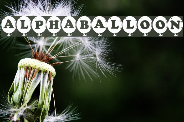 AlphaBalloon Font examples