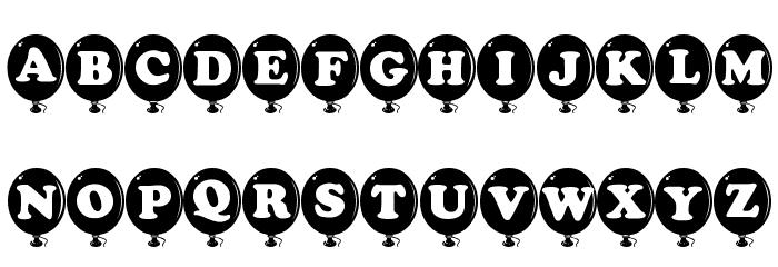 AlphaBalloon Font LOWERCASE