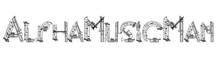 AlphaMusicMan  Скачать бесплатные шрифты