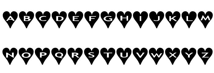 AlphaShapes hearts Font UPPERCASE