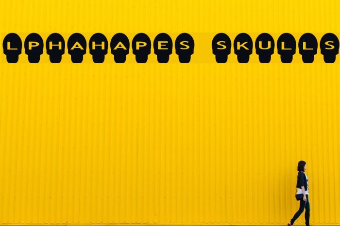 AlphaShapes skulls Шрифта examples