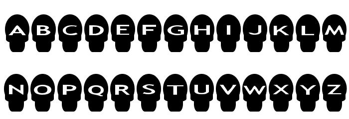 AlphaShapes skulls Шрифта строчной