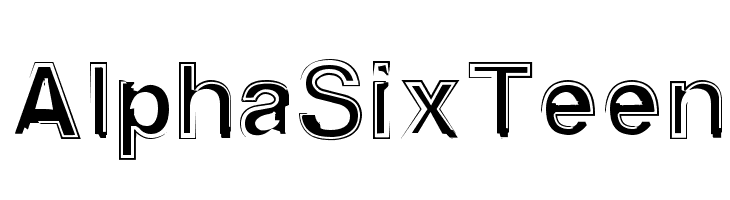 AlphaSixTeen  Free Fonts Download