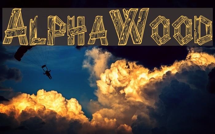 AlphaWood फ़ॉन्ट examples