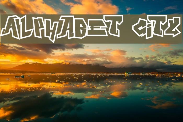 Alphabet City Шрифта examples