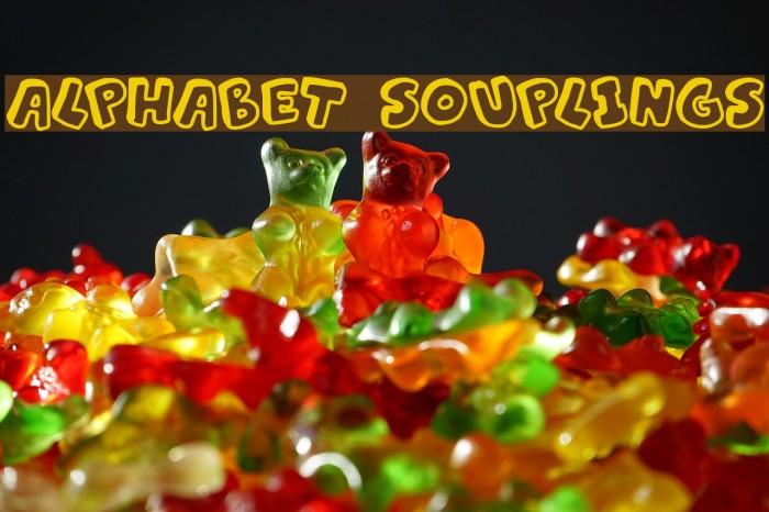 Alphabet Souplings फ़ॉन्ट examples