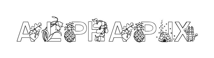 Alphapix  Скачать бесплатные шрифты