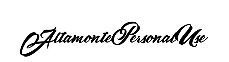 AltamontePersonalUse  Free Fonts Download