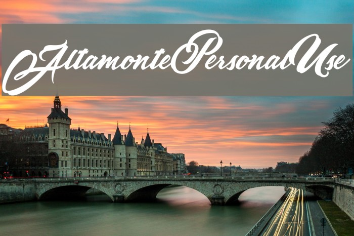 AltamontePersonalUse Font examples