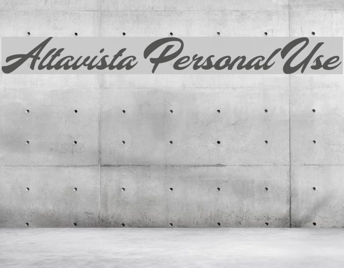 Altavista Personal Use फ़ॉन्ट examples