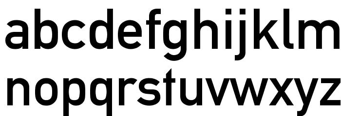 Alte DIN 1451 Mittelschrift Font Litere mici