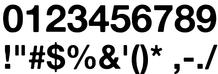 Alte Haas Grotesk Bold Font OTHER CHARS