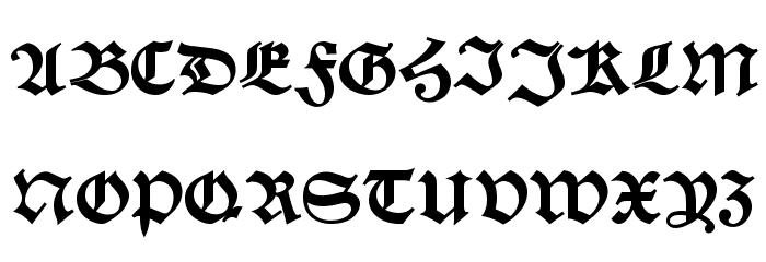 Alte Schwabacher DemiBold Font UPPERCASE