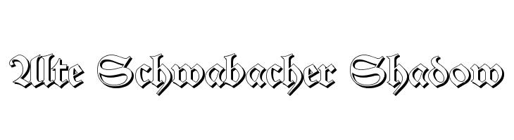 Alte Schwabacher Shadow  Free Fonts Download