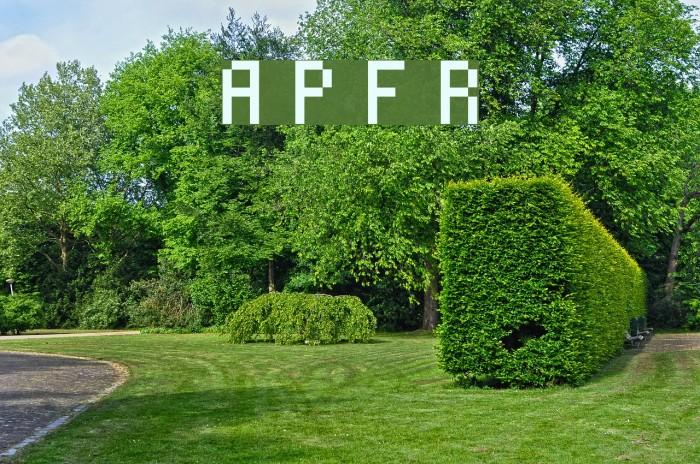 Alterebro Pixel Font Regular Fonte examples