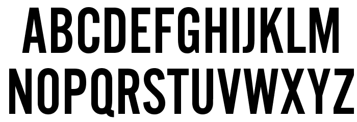 AlternateGothicEF-NoTwo Font UPPERCASE