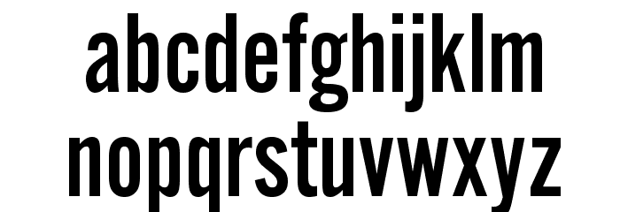 AlternateGothicEF-NoTwo Font LOWERCASE