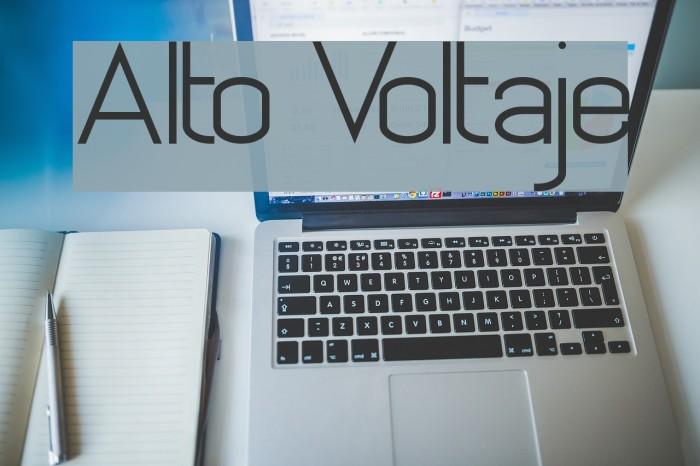 Alto Voltaje Font examples