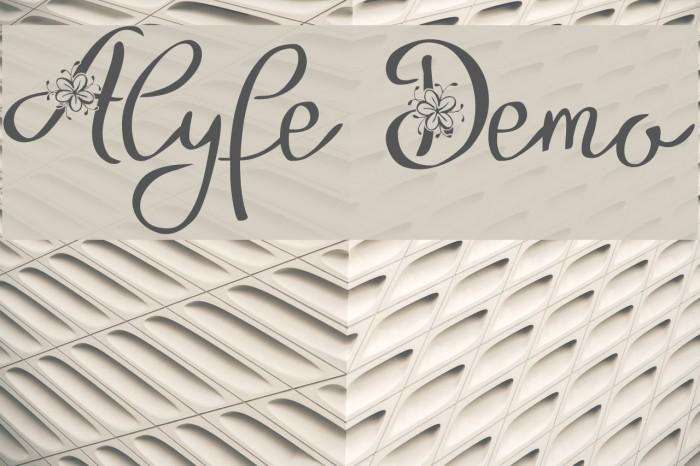 Alyfe Demo Font examples