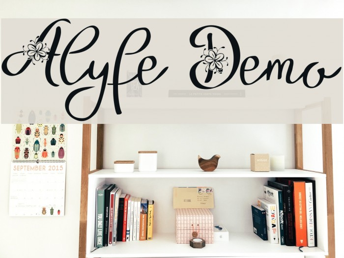 Alyfe Demo फ़ॉन्ट examples