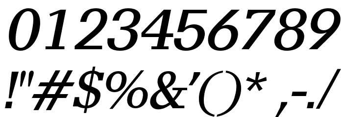 AlyssaOpti-Italic फ़ॉन्ट अन्य घर का काम