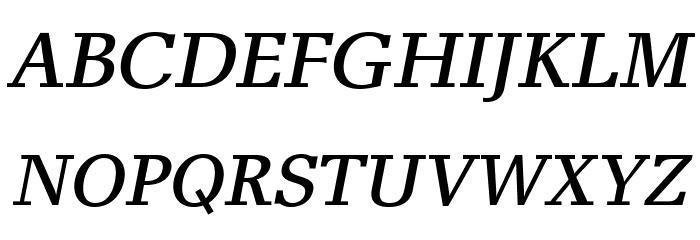 AlyssaOpti-Italic फ़ॉन्ट अपरकेस