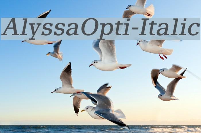 AlyssaOpti-Italic फ़ॉन्ट examples