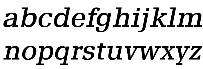 AlyssaOpti-Italic फ़ॉन्ट लोअरकेस
