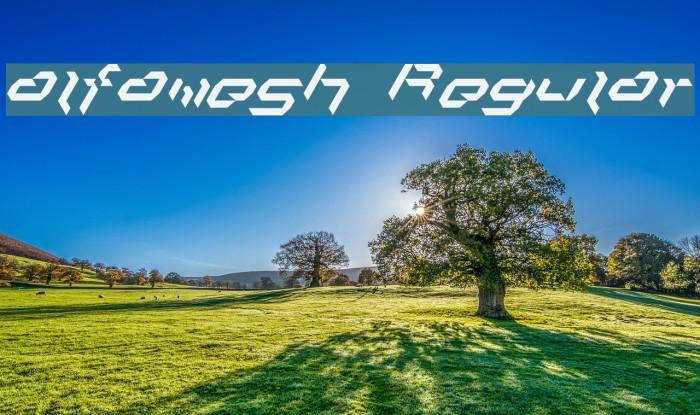 alfamesh001 Regular Font examples