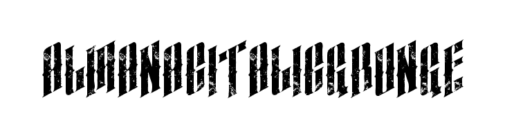 almanacitalicgrunge  Free Fonts Download
