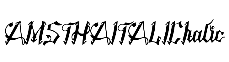 AMSTHA ITALIC Italic  Free Fonts Download