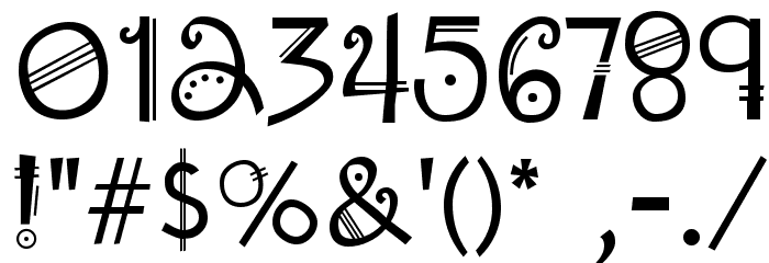 Amadeus Regular Font OTHER CHARS