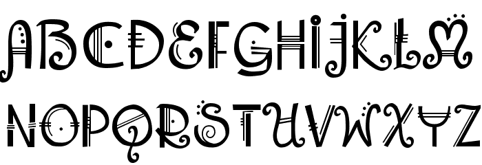 Amadeus Regular Font UPPERCASE