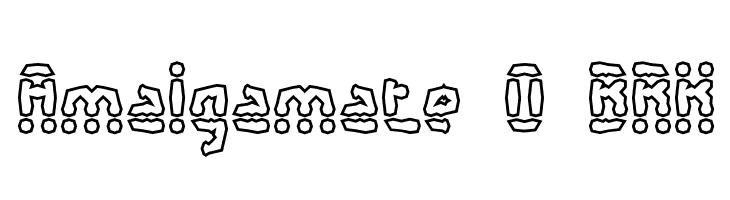 Amalgamate O BRK  免费字体下载