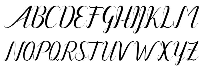Amanda Art design フォント 大文字
