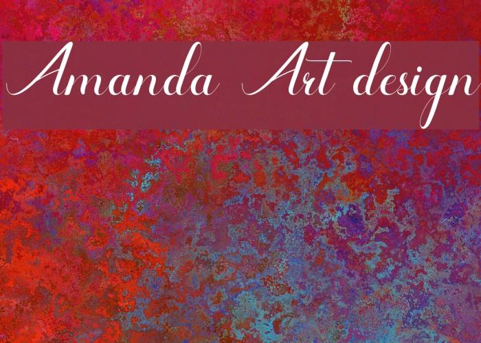 Amanda Art design フォント examples