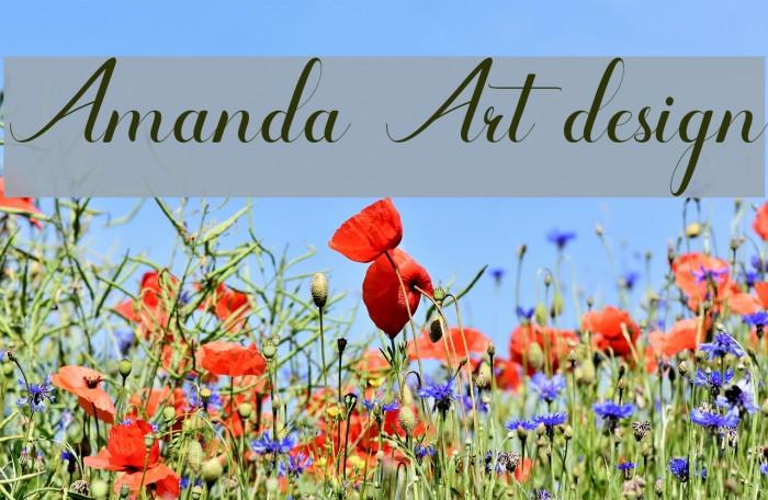 Amanda Art design Font examples