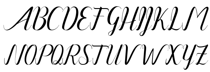 Amanda-Artdesign फ़ॉन्ट अपरकेस