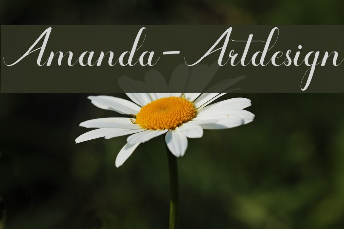 Amanda-Artdesign फ़ॉन्ट examples