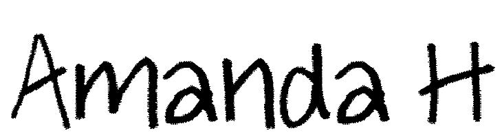 Amanda H  Frei Schriftart Herunterladen
