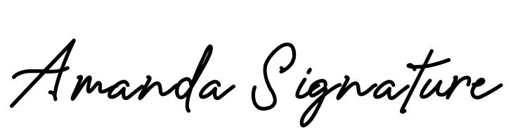 Amanda Signature  Descarca Fonturi Gratis