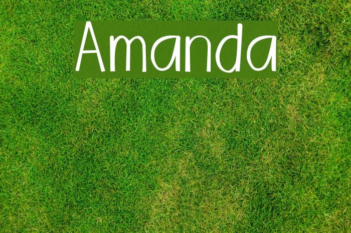 Amanda Шрифта examples