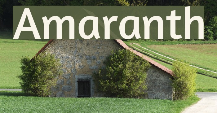 Amaranth Font examples