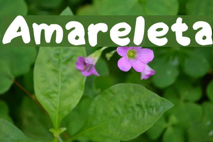 Amareleta Font examples